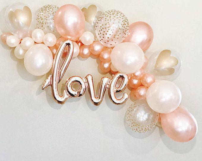 Balões De Ouro rosa Amor Balão Rosa de Ouro Balão de Casamento Chuveiro Nupcial Decoração Rosa de Ouro de Casamento de Ouro Subiu Chuveiro Confete Balões