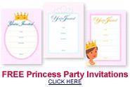 Free Printable Princess Birthday Cupcake Toppers & Invitations