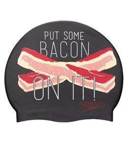 Speedo Bacon On It Silicone Swim Cap