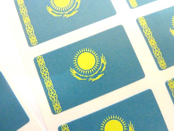 Mini Sticker Pack, Self-Adhesive Kazakhstan Flag Labels, Fr153