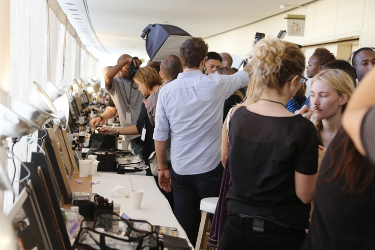 Backstage at Tory Burch Spring 2013. Photo courtesy of wwd.com