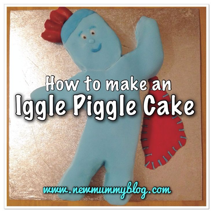 Step by step instructions on how to make an Iggle Piggle cake. I made this as our toddler loves CBeebies In The Night Garden and it was actually really easy and quick to make