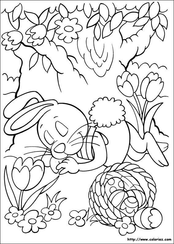 Coloriage Le lapin de Pâques