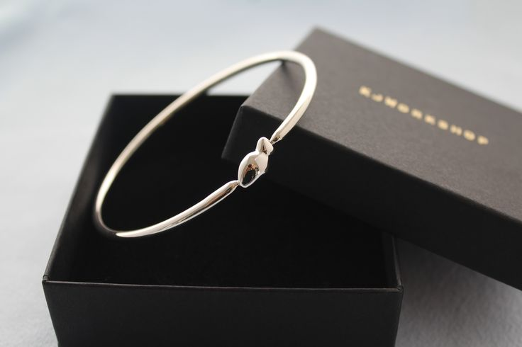 Sterling Silver Little Fish Bangle- Hand Crafted solid silver Bangle