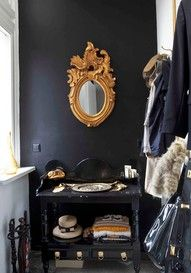 black and gold, eagle mirror