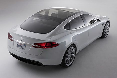 Tesla Model S Electric Car -- totally groundbreaking