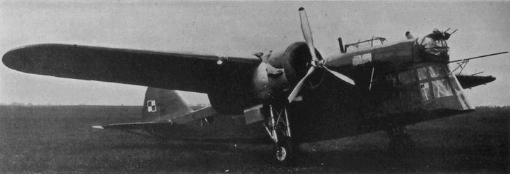 LWS-6 Żubr (PZL.30 Żubr) was a Polish twin-engined medium bomber, produced by the LWS factory before World War II. It was designed by PZL in the early 1930s, initially as a passenger aircraft. First flight 1936, start of production - 1938. A short series was used for training only, because it was inferior to the PZL.37 Łoś design