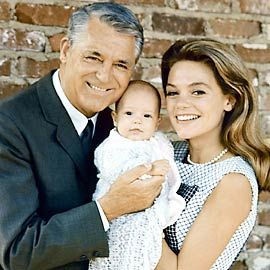 Cary Grant, Dyan Cannon with daughter, Jennifer. He quit acting to be a devoted dad even after divorce.