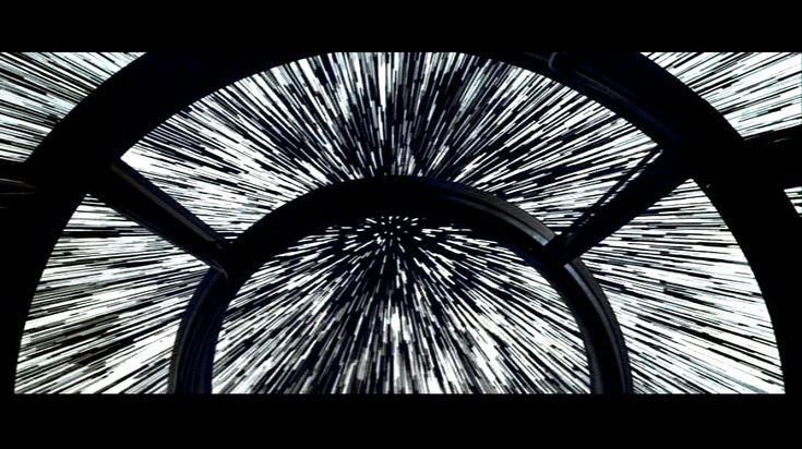 Inside the Millennium Falcon | Blue-shifted entry and exit starlines seen from the Millennium Falcon ...