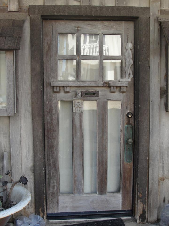 great door idea, cut out wood, insert glass