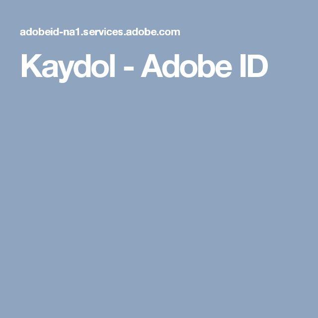 Kaydol - Adobe ID