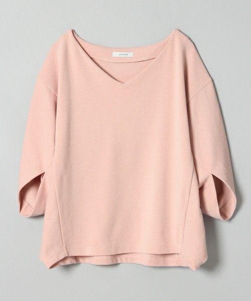 JEANASIS(ジーナシス)の「ヘンケイスリーブプルオーバーSS/749179 (Tシャツ/カットソー)」 ピンク