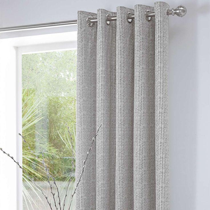 Charcoal Asha Thermal Eyelet Curtains