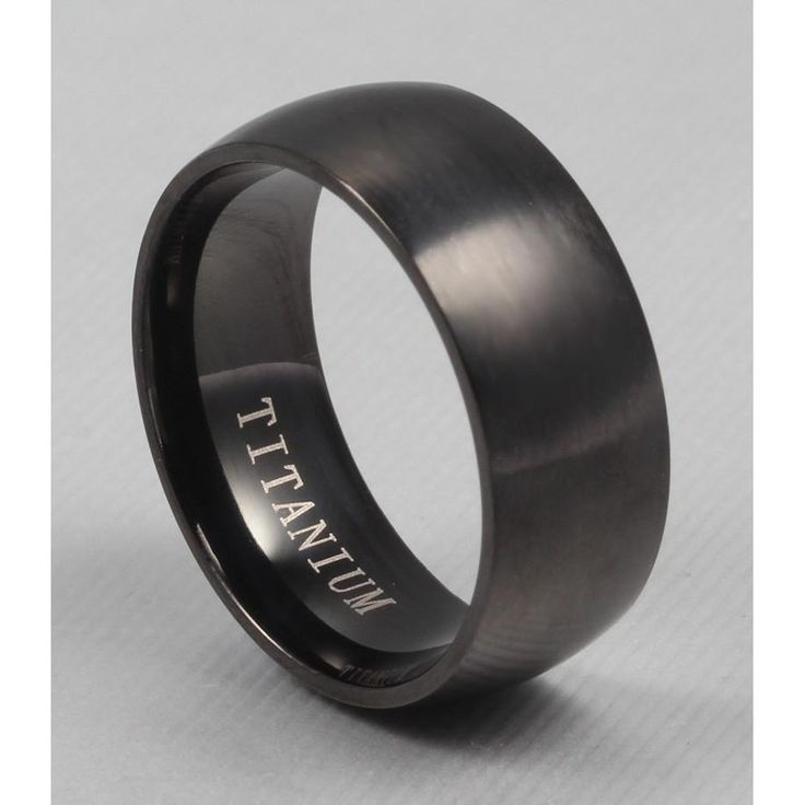 100% Titanium Rings For Men 8mm Cool Black Men Ring Jewelry Wedding Engagement Male Gift sales