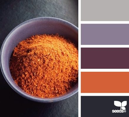 VOICE VALUES COLOR PALETTE: Helpfulness. Warm, rich, wholesome, dependable. See also: Community | spiced palette via Design-Seeds | commentary via The Voice Bureau at AbbyKerr.com