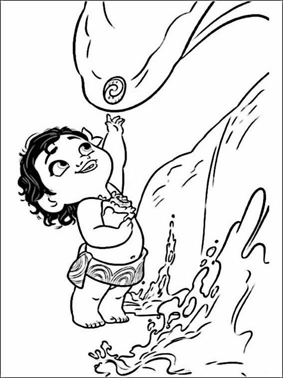 vaiana moana coloring pages for kids 5