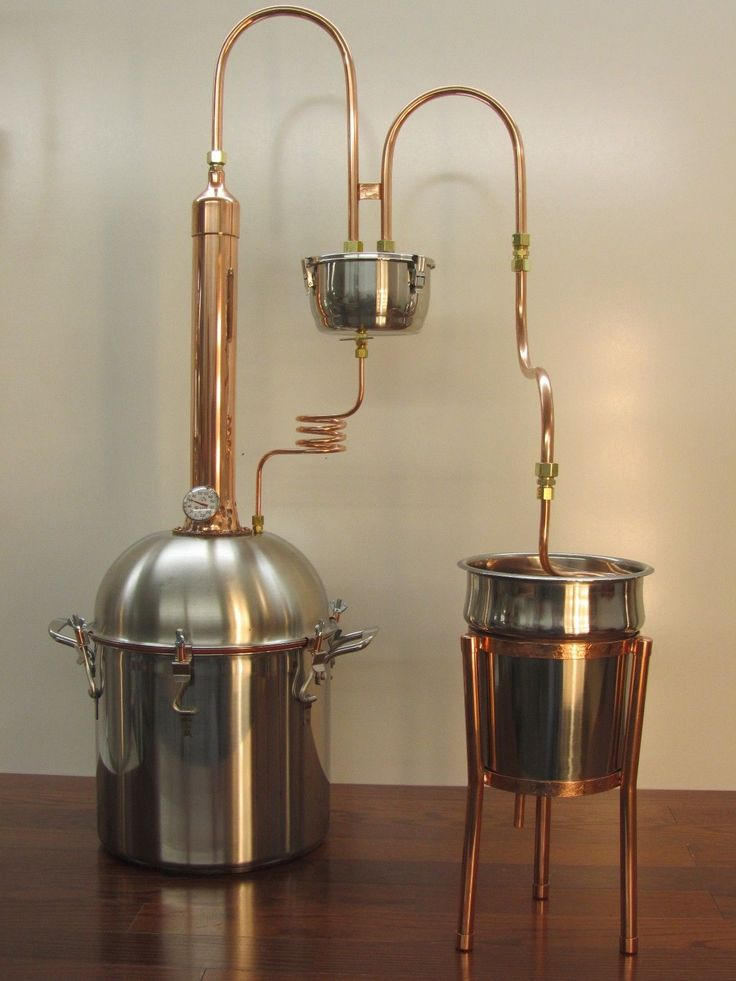 Alcohol Ethanol Moonshine Copper Tower Still 4 Gallon Premium Boiler | eBay