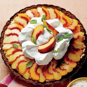Our Best Peach Desserts | Peach Divinity Icebox Pie  | MyRecipes.com Make summertime entertaining even more perfect with these top-rated peach dessert recipes including pies, cobblers, and homemade ice cream.