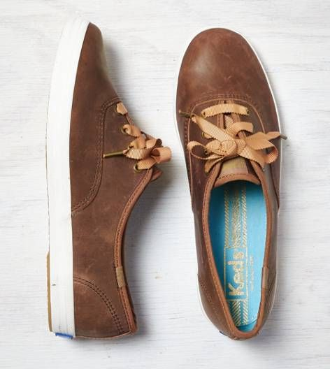 Tan Keds Champion Leather Sneaker