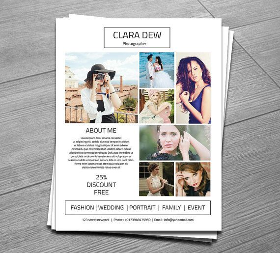 17 Best ideas about Photography Flyer on Pinterest | Graphic ...