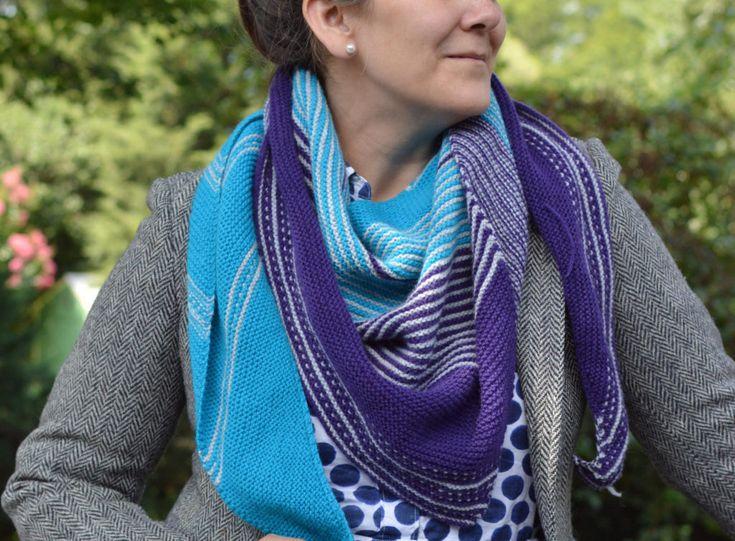 Knitting Melanie Berg's Drachenfels Shawl