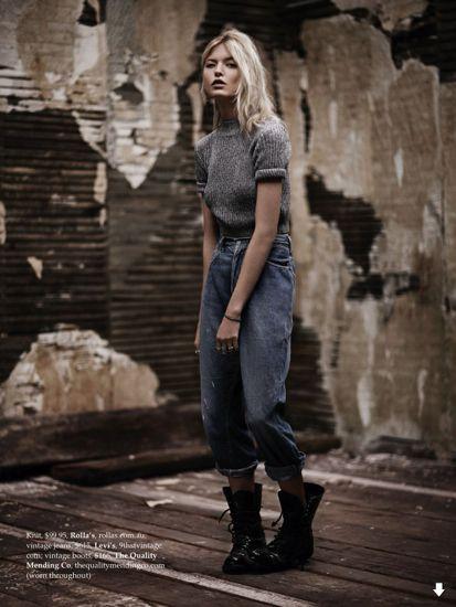 EDITORIAL - Um chamado ao efeito distressed na Elle Australia - Notícias - Guia JeansWear : O Portal do Jeans - www.guiajeanswear.com.br