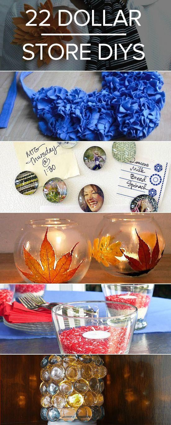 22 dollar store DIY craft  projects to tackle!