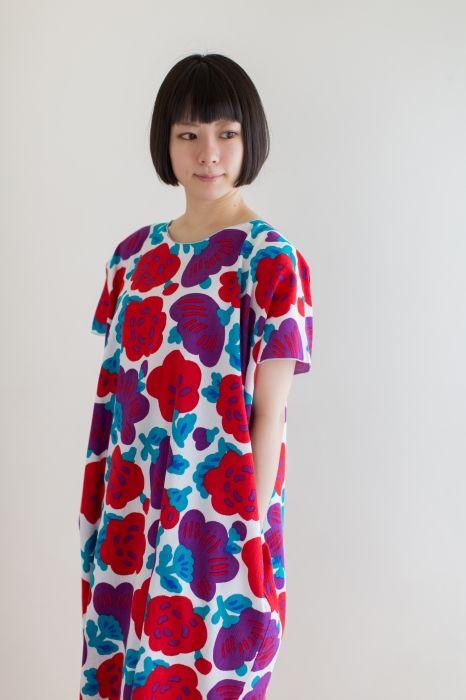 SOU・SOU着衣 高島縮 長方形衣(ちょうほうけい)- 高島縮を使用したワンピース
