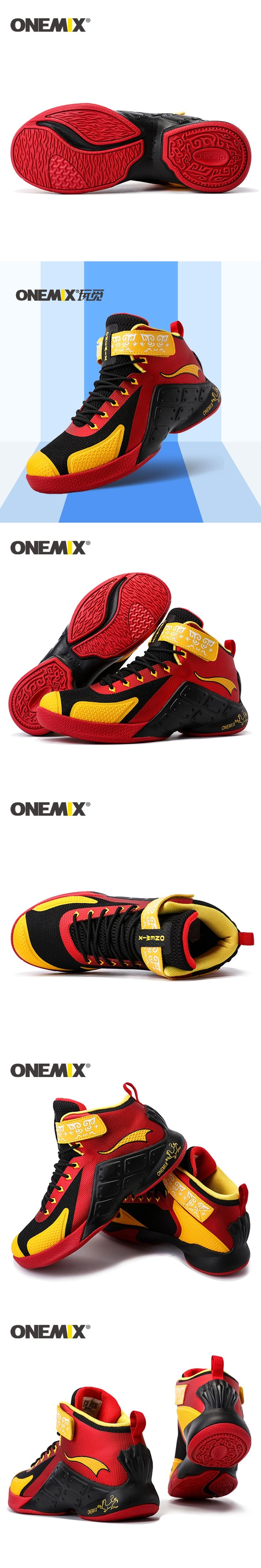 ONEMIX new arrival mens top quailty sport shoes 2016 basketball shoes waterproof males athletic Shoes wholesale US7-12