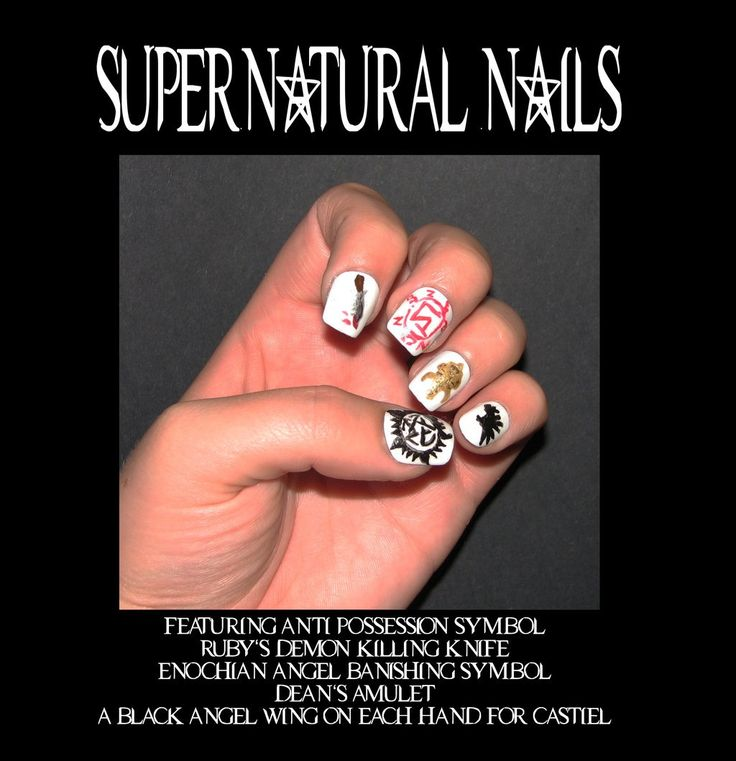 30 best my wedding nails images on pinterest supernatural nails supernatural nail artnot doing thesemostly bc people at work wouldnt understand but i still appreciate the fact that someone else did it prinsesfo Image collections