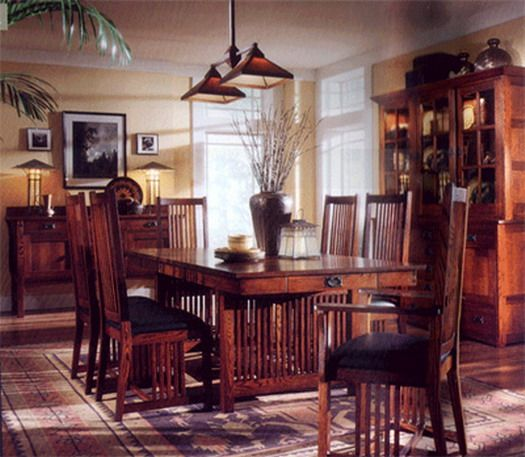 16 best Mission Style Dining Rooms images on Pinterest Craftsman