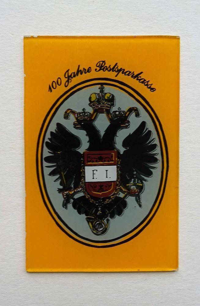 Hinterglasbild Wappen Österreich Heraldik Doppeladler 100 Jahre  Postsparkasse  | eBay