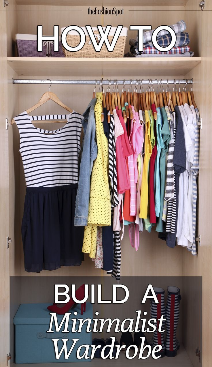 Spring cleaning! Time to ditch what you don't need and build a minimalist wardrobe.