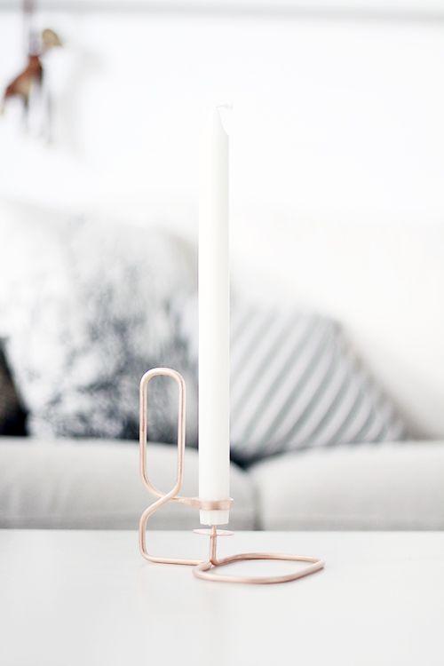 DIY / Copper candle holder
