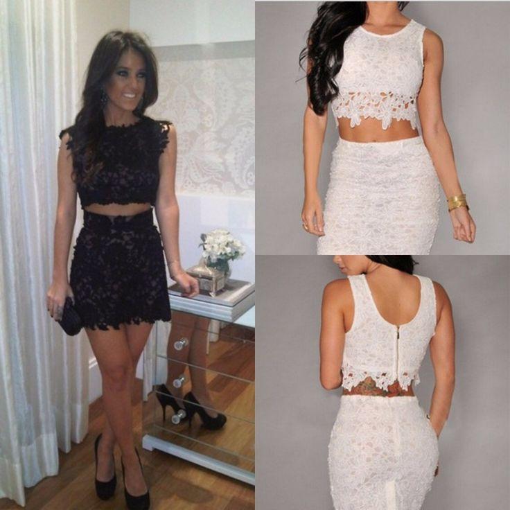 Unique O Neck Short Homecoming Dresses,Two Pieces ...
