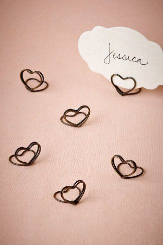 adorable place card holders Heart idea MIL party on Valentine's Day