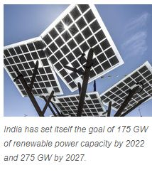 NEW DELHI: India's renewable energy programme is proceeding at such a rapid pace that its contribution to total power generation will equal that of coal in 2026 and surpass it the following year, according to projections made in the second volume of the Economic Survey released on Friday.   Get #NarendraModi & #BJP #latestnews and #updates with - http://nm4.in/dnldapp http://www.narendramodi.in/downloadapp. Download Now.