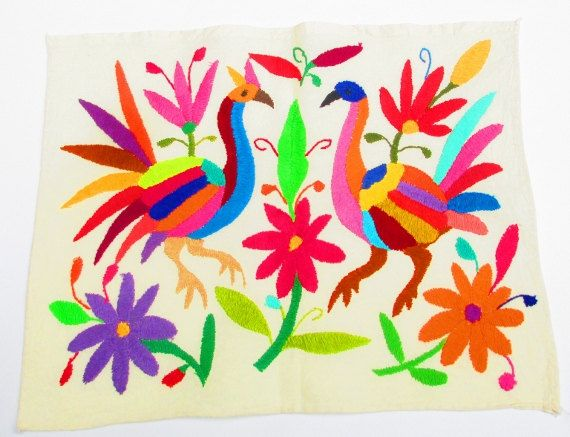 Mexican Otomi fabric tribal fabric by MexFabricSupplies on Etsy, $29.50