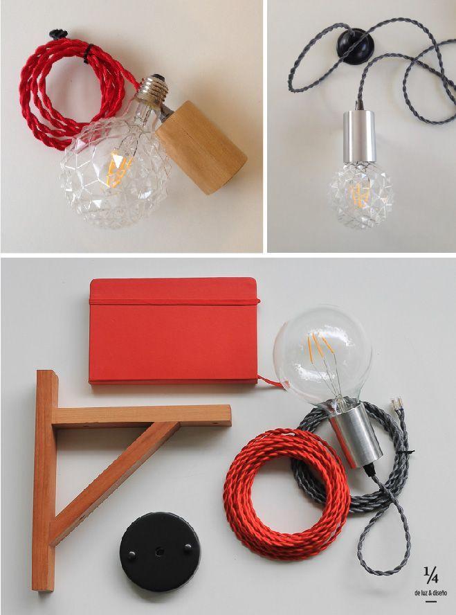 En 1/4 de luz tu eliges todo, arma a tu pinta la lámpara y decora de forma especial tus espacios.