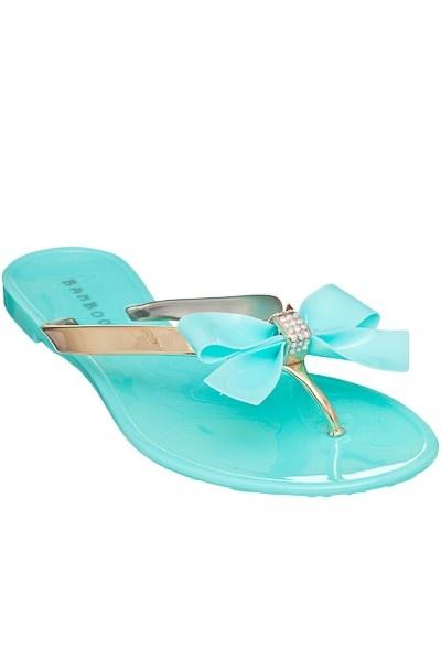 blu Foam Beach Shoes/Sandals with Bow Front Girls Z6pgCEn