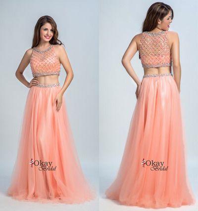 Blush Prom Dress,Two Piece Homecoming Dress,Sexy Prom Dress,High Quality Prom Dress,Beauty Prom Dress,Elegant Homecoming Dress,PD1130