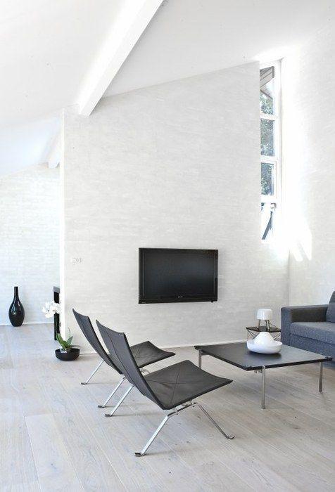 Modern interiors, minimalism, white living room. pk22 chair