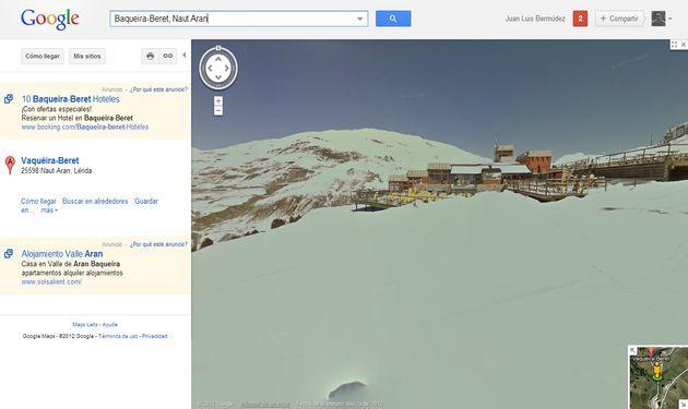 Algunas de las principales estaciones de esquí del mundo ya disponibles en Street View