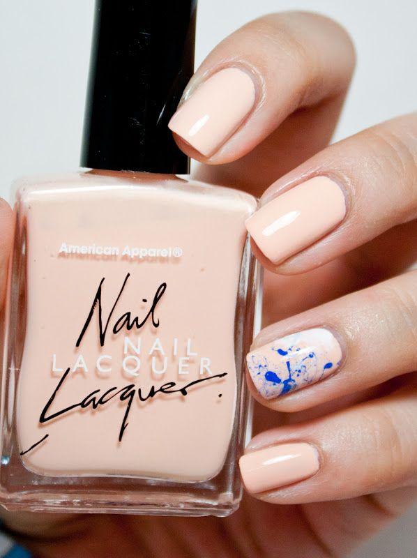 splatter accent nail