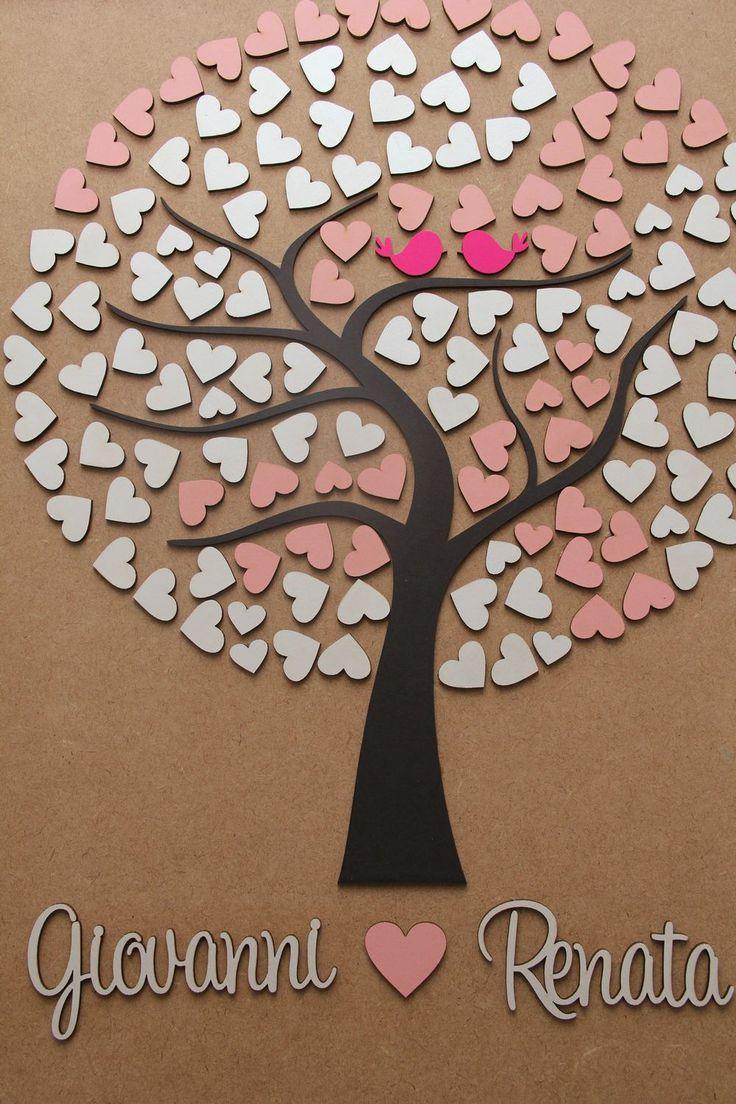 Árvore de assinaturas – 175 corações | Casamentos.Barse.com.br