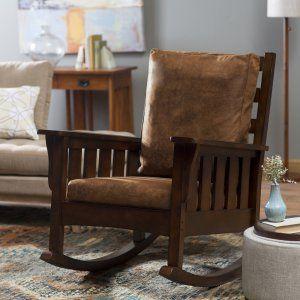 Belham Living Remington Mission Rocker - Walnut - Indoor Rocking Chairs at Hayneedle