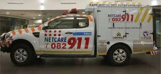 """Netcare 911. """"QUAGGA"""" Randburg Gauteng South Africa. Africure AMS was the first private EMS to have a dedicated """"Rescue"""" vehicle which was used as a Scene Safety vehicle. Back then it was deemed unsafe for private EMS to """"cut"""" and extricate due to the threat of lawsuits and zero state backing. Netcare 911 established the first """"legal"""" RESCUE vehicle and has succeeded internationaly."""