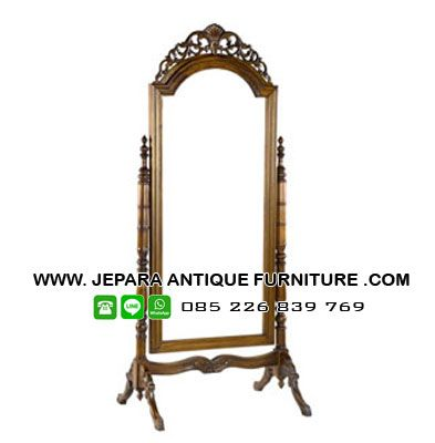 Model cermin kayu jati ukiran khas kota mebel jepara