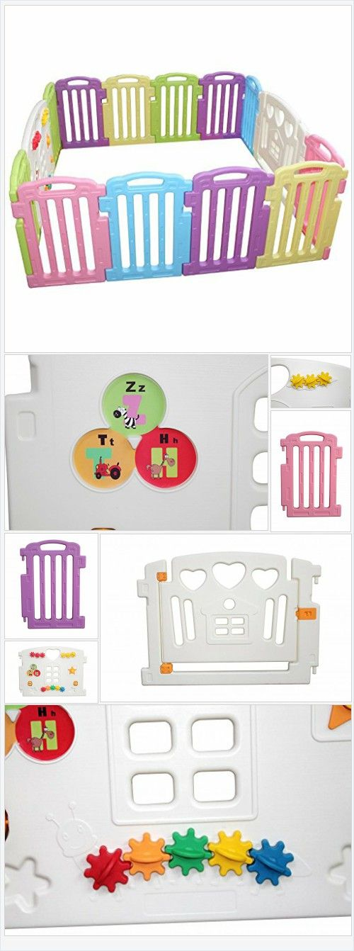 Amazon.com: Baby Playpen Kids 14 Panel Safety Play Center Yard Home Indoor Outdoor Pen: Baby