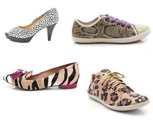 Há diversas temporadas, as animal prints caíram no gosto das brasileiras e continuam em alta nos sapatos para o inverno 2013. A novidade desta estação são os tênis com estampas de onça e cobra. Confira alguns destaques.